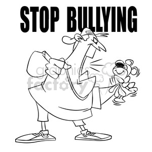 bully clipart black and white bully black and white