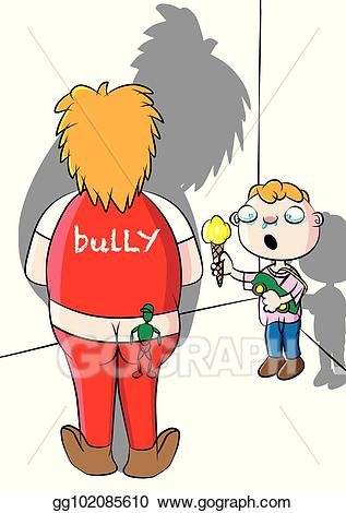 Bully clipart bully victim. Eps illustration school and