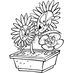 Bully clipart cartoon. Black and white flower