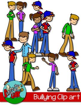 Bully teaching resources teachers. Bullying clipart scene
