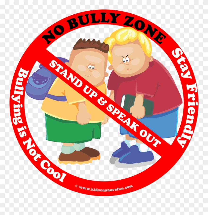 No zone poster to. Bully clipart clip art