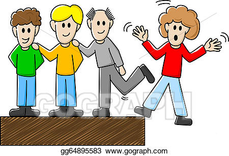 Bullying clipart conflict. Vector stock mobbing illustration
