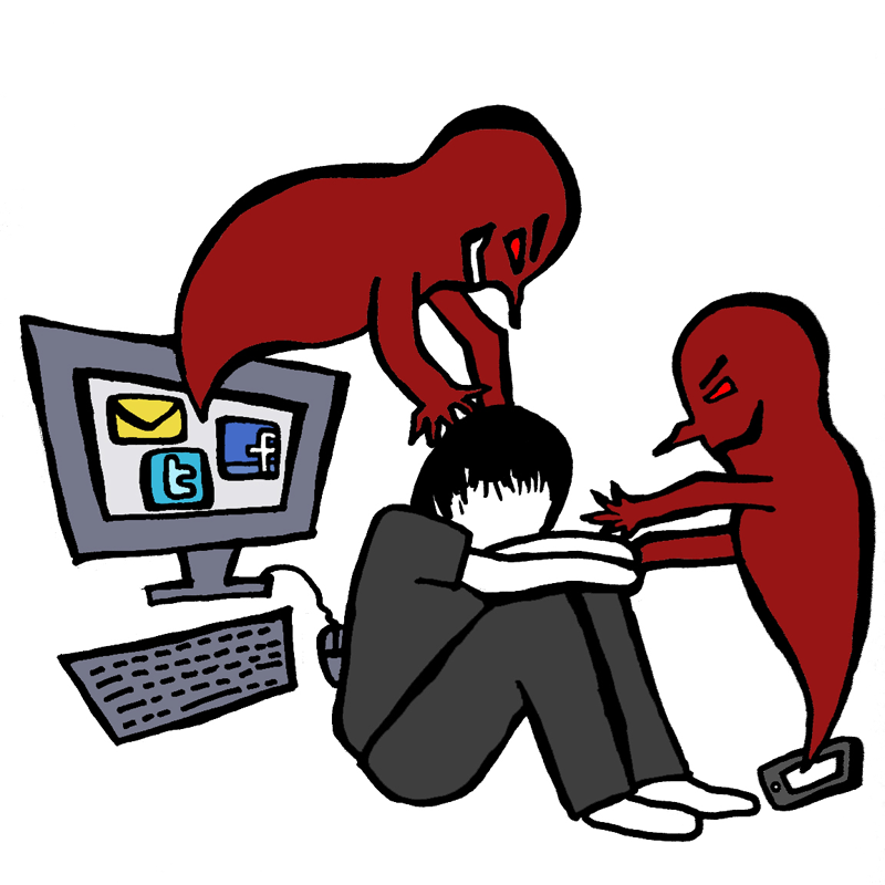 Bullying clipart icon.  collection of cyber