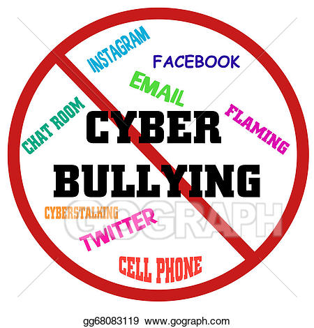 Bully clipart cyber bullying. Stock illustration stop clip