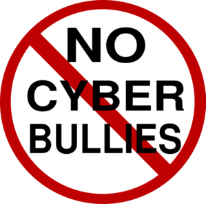 No cyber bullies clip. Bullying clipart icon