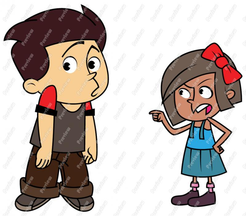 Child standing up to. Bully clipart girl bully