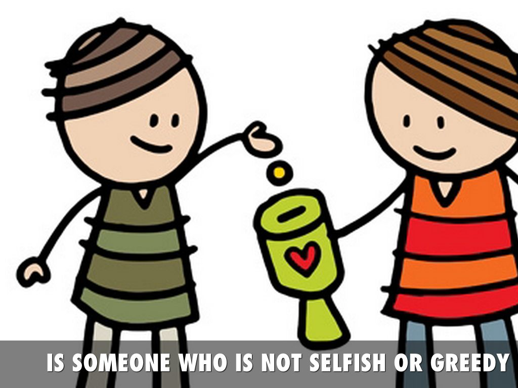 Bully clipart greedy. Good person by molly