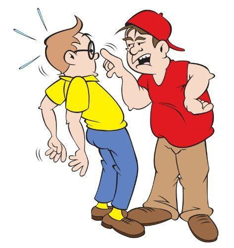 Gross out bobby strikes. Bully clipart greedy