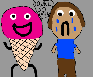You dirtbag ice cream. Bully clipart greedy