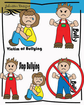 Free bullying by johnston. Bully clipart in school
