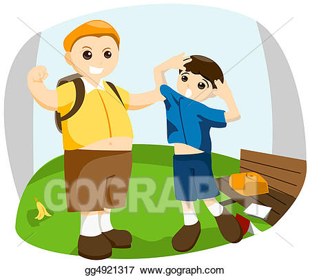 Bully clipart in school. Stock illustration gg gograph