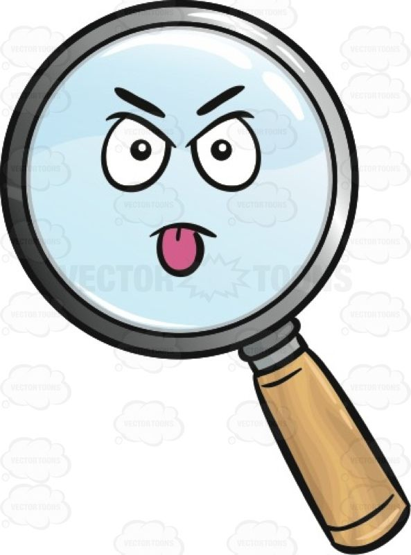 Magnifying glass emoji amplify. Bully clipart intimidating