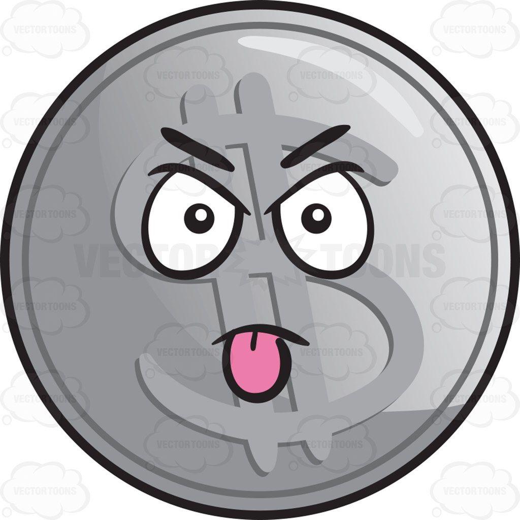 Bully clipart intimidating. Silver coin emoji brat