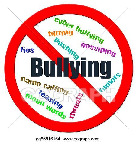 Stock illustration stop bullying. Bully clipart logo