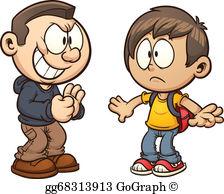 Bully clipart logo. Vector illustration kid boy