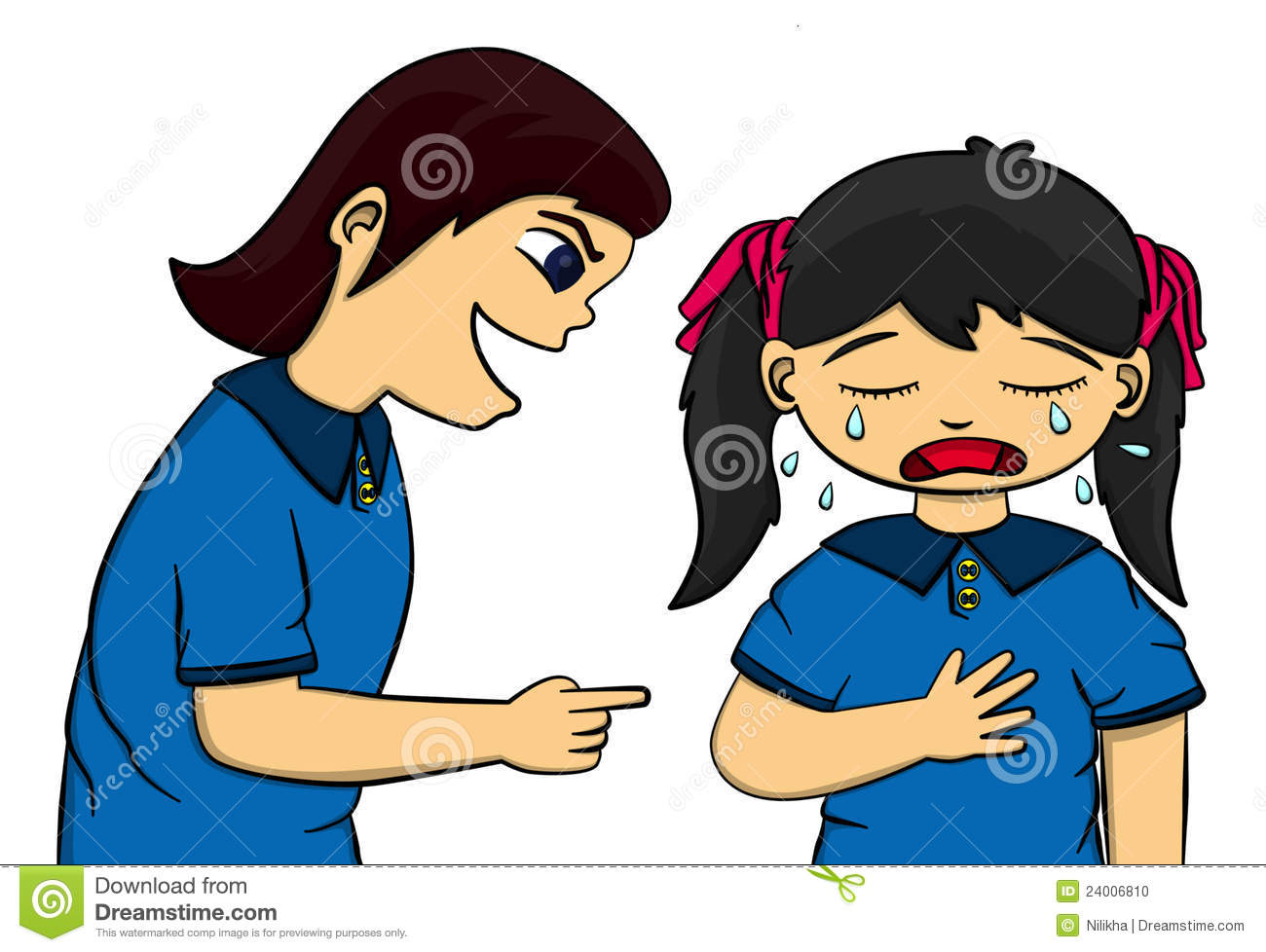 collection of girl. Bully clipart outcast