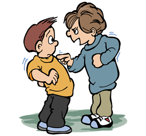 . Bully clipart physical bullying