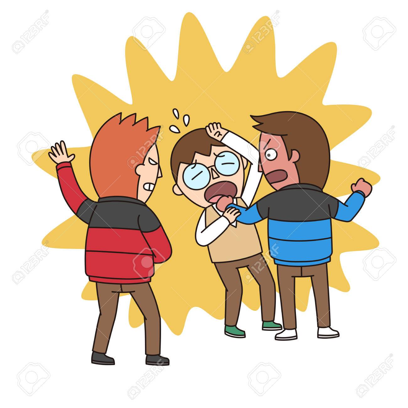 collection of bullying. Bully clipart physical harassment