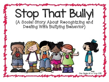 Stop that a story. Bully clipart social bullying