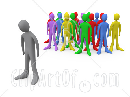Discrimination panda free images. Bully clipart social exclusion