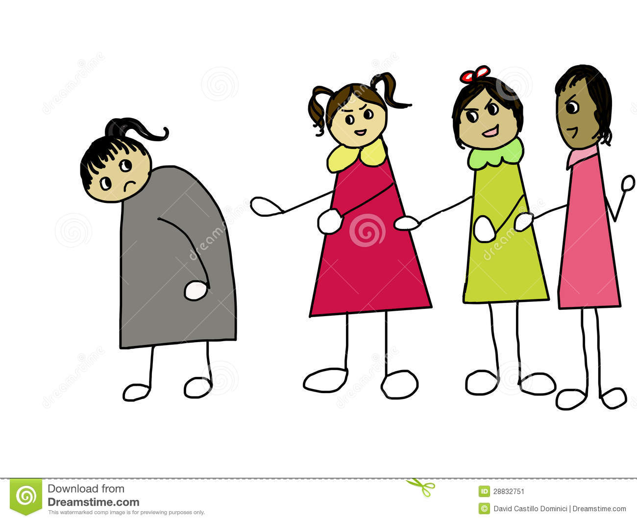 bully clipart social exclusion