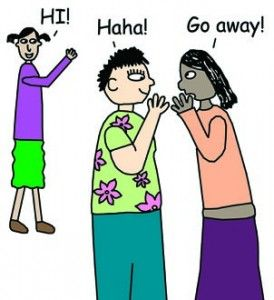 Shunning and kidpower skills. Bully clipart social exclusion