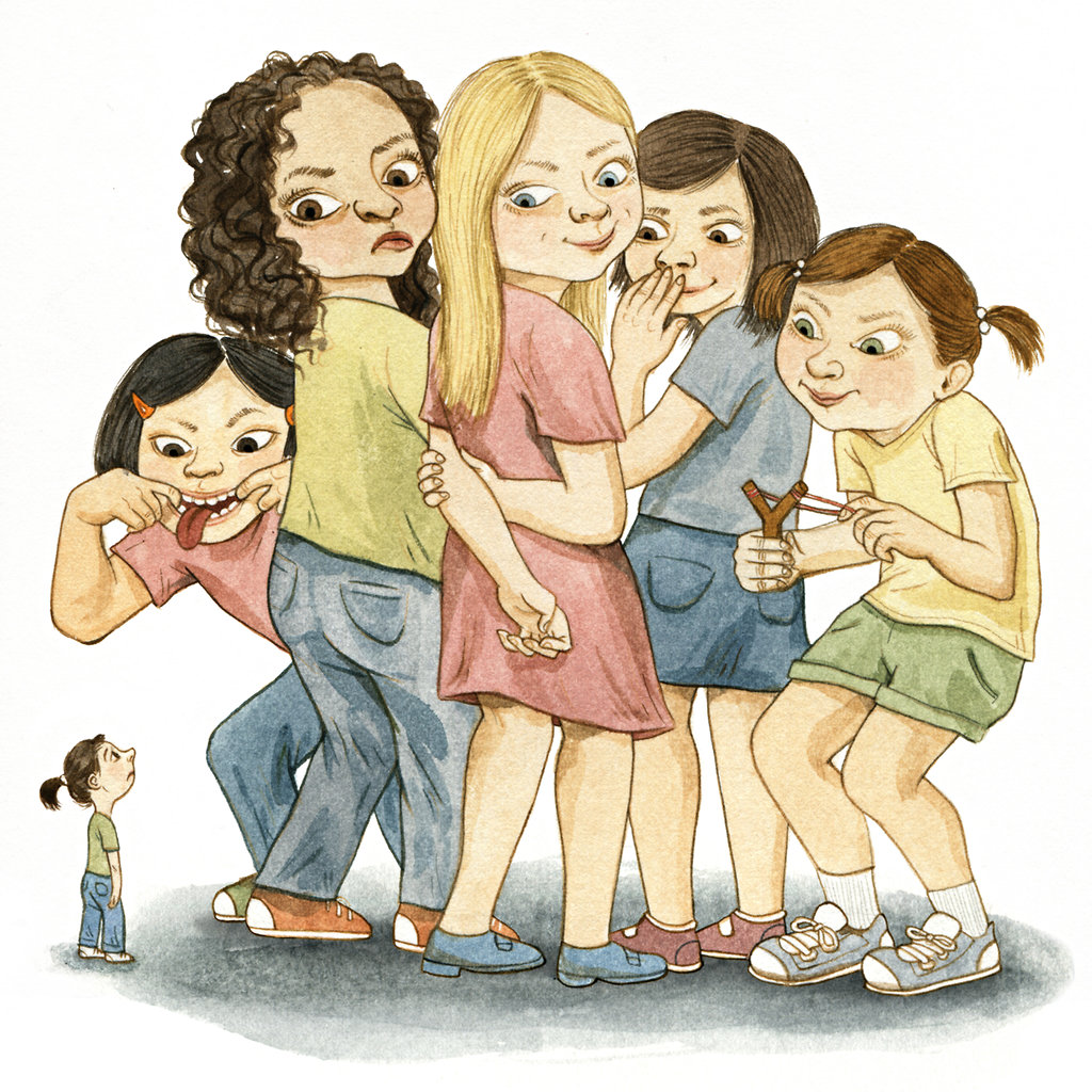 Bully clipart social exclusion. Mean girl bullying trickles