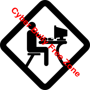 Bully clipart symbol. No cyber bullying clip