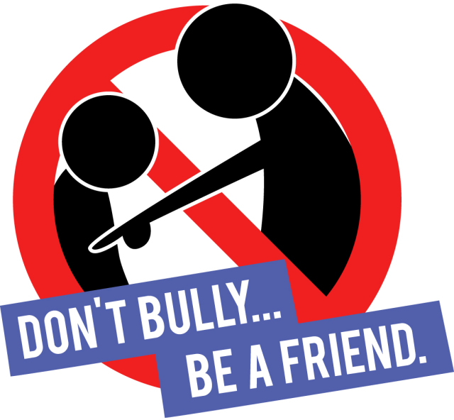 Bully clipart symbol. Knocking bullying out through