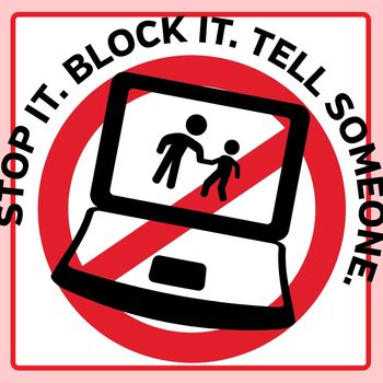 Stop cyber bullying signs. Bully clipart symbol
