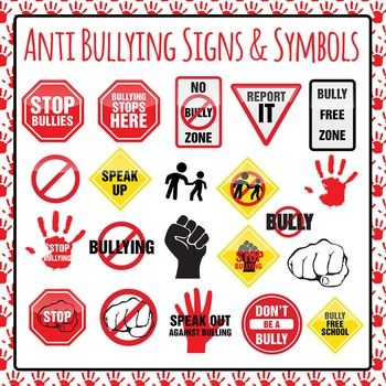 Bully clipart symbol. Anti bullying signs symbols