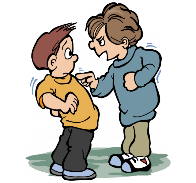 collection of bully. Bullying clipart playground