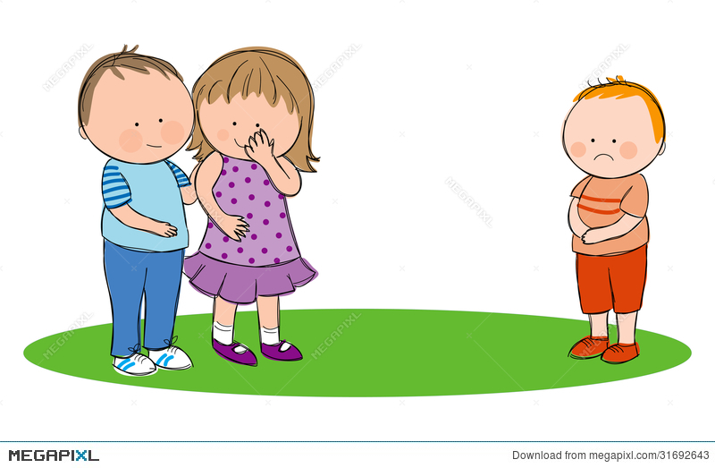 Bully clipart unkind. Bullying illustration megapixl