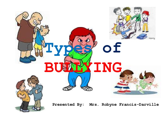 Bully clipart physical assault. Types of bullying