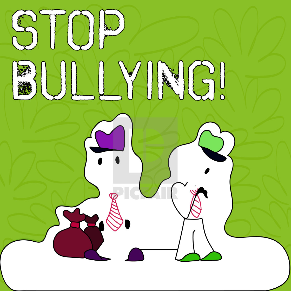 Text sign showing stop. Bullying clipart aggressive behaviour