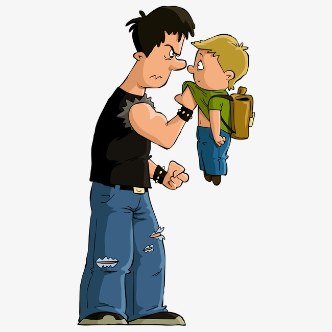 Bullying clipart cartoon character. Students bully child characters