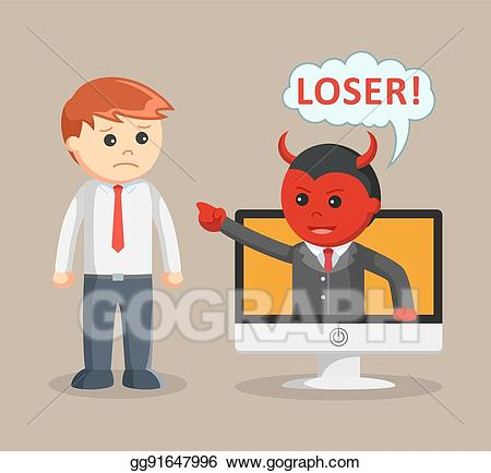 Clip art vector evil. Bullying clipart cyber bullying