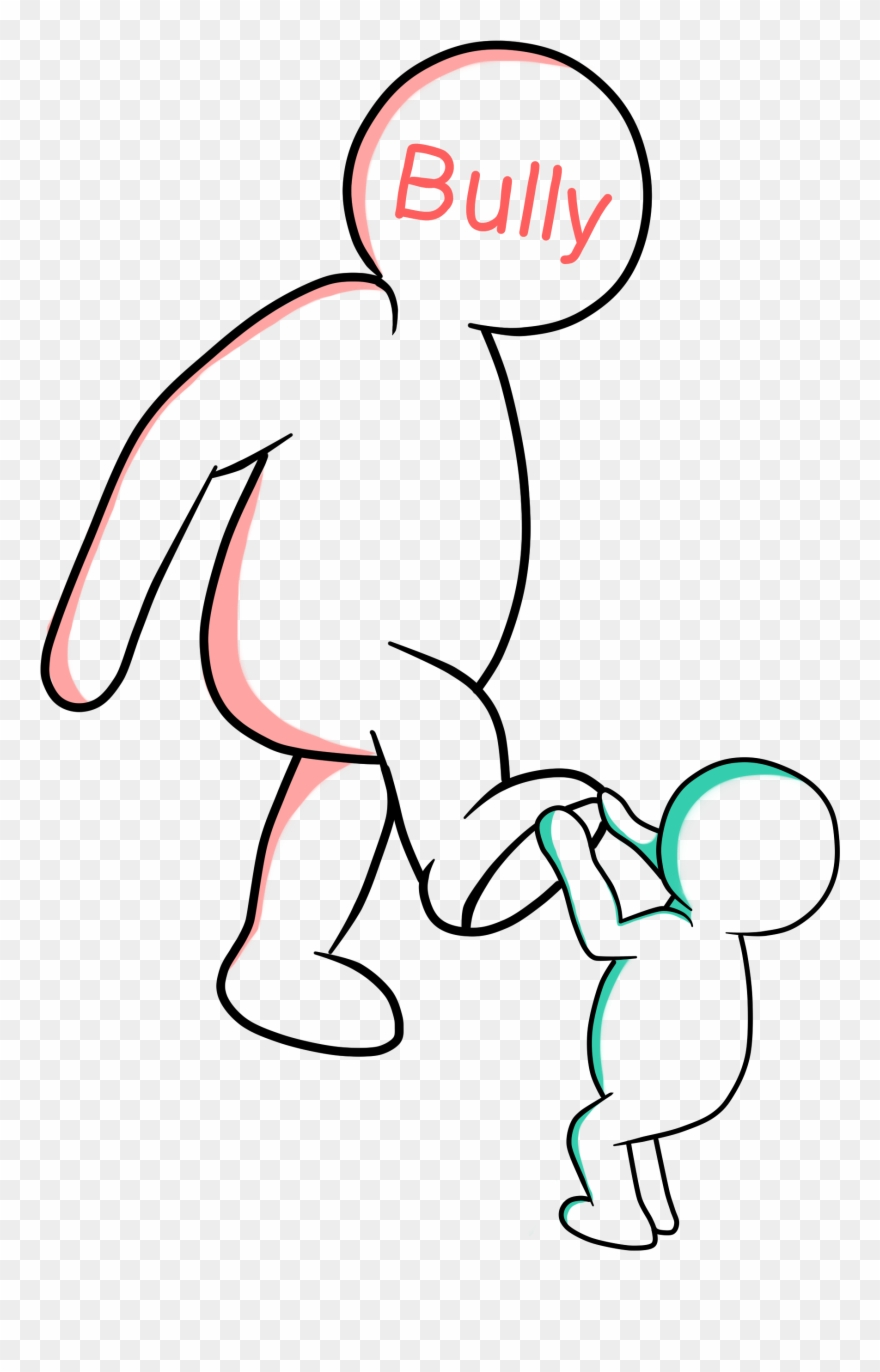 Bullying clipart easy. Drawing physical pinclipart