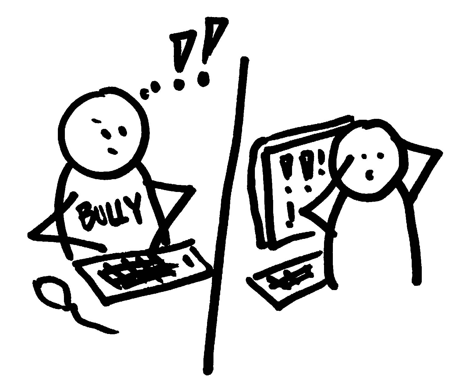 Bullying clipart easy. Cyber bullybusteroc