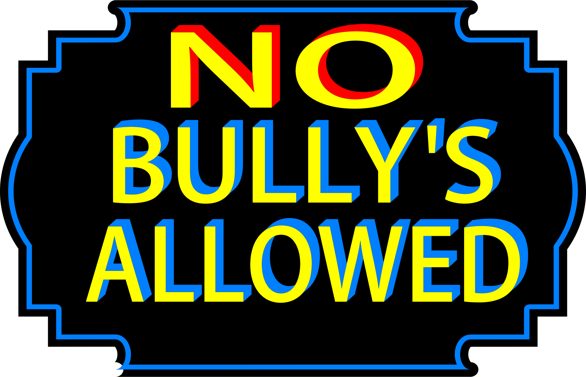 Bullying clipart icon. No bullies allowed icons