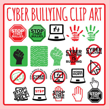 Bullying clipart icon. Stop cyber signs symbols