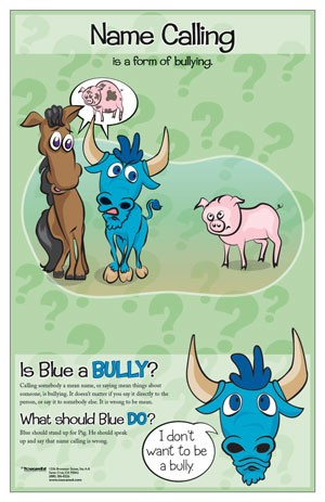 Bullying clipart name calling. Bully posters