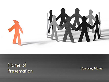 Person powerpoint template backgrounds. Bullying clipart outcast