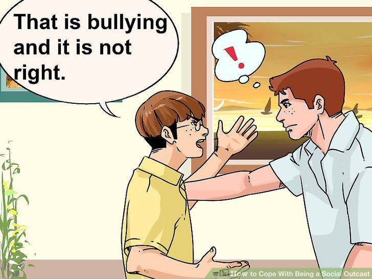 ways to cope. Bullying clipart outcast