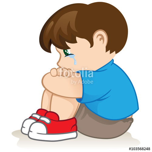Depression clipart crestfallen. Illustration of a sad