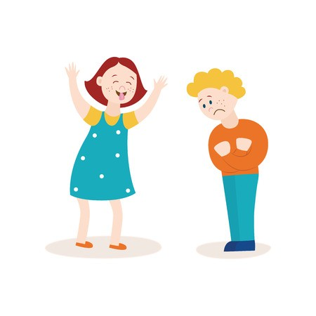 Bullying clipart quarrelsome. Illustration of a child