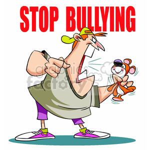 Stop man yelling at. Bullying clipart scene