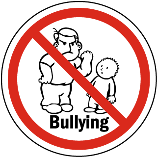 Bullying clipart transparent. No signs for your