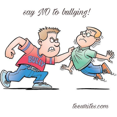Teewrites. Bullying clipart unkind