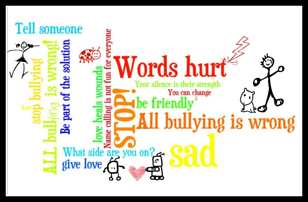 Bullying clipart word. Get down with being